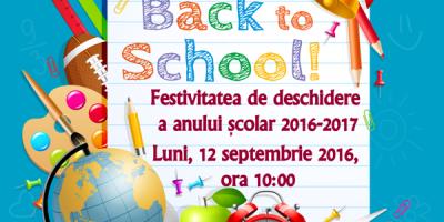 Festivitatea de deschide a anului scolar 2016-2017