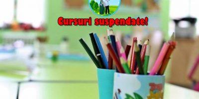 """Cursuri suspendate la Gradinita """"Fericitul Ieremia""""!"""