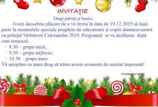 Invitatie la Serbarea de Craciun – editia 2019