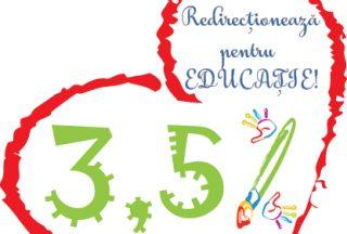 Redirectioneaza 3,5% din impozitul pe venit pentru educatie!