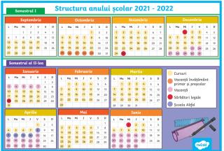 Structura anului scolar 2021 – 2022